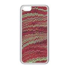 Scaly Pattern Colour Green Pink Apple Iphone 5c Seamless Case (white) by Alisyart
