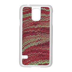 Scaly Pattern Colour Green Pink Samsung Galaxy S5 Case (white)