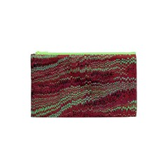 Scaly Pattern Colour Green Pink Cosmetic Bag (xs)