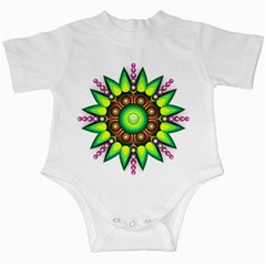 Design Elements Star Flower Floral Circle Infant Creepers by Alisyart