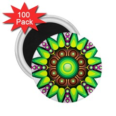 Design Elements Star Flower Floral Circle 2 25  Magnets (100 Pack)  by Alisyart