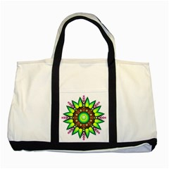 Design Elements Star Flower Floral Circle Two Tone Tote Bag by Alisyart