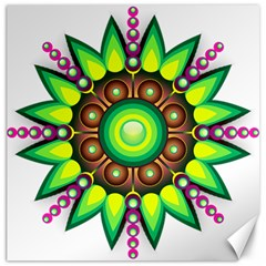 Design Elements Star Flower Floral Circle Canvas 12  X 12   by Alisyart
