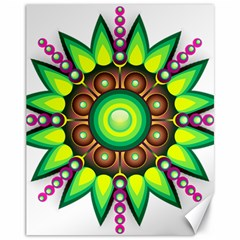 Design Elements Star Flower Floral Circle Canvas 11  X 14   by Alisyart