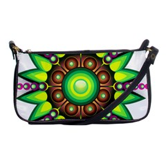 Design Elements Star Flower Floral Circle Shoulder Clutch Bags by Alisyart