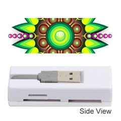Design Elements Star Flower Floral Circle Memory Card Reader (stick)