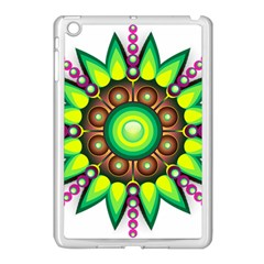 Design Elements Star Flower Floral Circle Apple Ipad Mini Case (white) by Alisyart