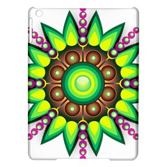 Design Elements Star Flower Floral Circle Ipad Air Hardshell Cases by Alisyart