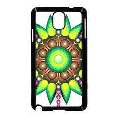 Design Elements Star Flower Floral Circle Samsung Galaxy Note 3 Neo Hardshell Case (black)