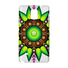 Design Elements Star Flower Floral Circle Samsung Galaxy Note 4 Hardshell Case by Alisyart