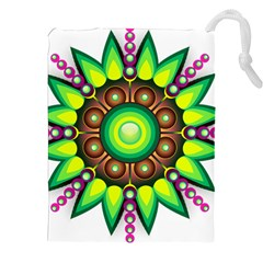 Design Elements Star Flower Floral Circle Drawstring Pouches (xxl) by Alisyart