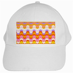Dna Early Childhood Wave Chevron Rainbow Color White Cap by Alisyart