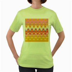 Dna Early Childhood Wave Chevron Rainbow Color Women s Green T Shirt