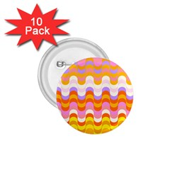 Dna Early Childhood Wave Chevron Rainbow Color 1 75  Buttons (10 Pack)