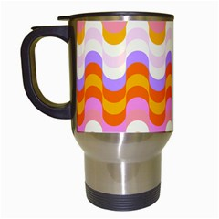 Dna Early Childhood Wave Chevron Rainbow Color Travel Mugs (white)