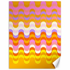 Dna Early Childhood Wave Chevron Rainbow Color Canvas 12  X 16   by Alisyart