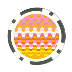 Dna Early Childhood Wave Chevron Rainbow Color Poker Chip Card Guard by Alisyart