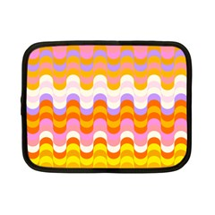 Dna Early Childhood Wave Chevron Rainbow Color Netbook Case (small)  by Alisyart