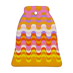 Dna Early Childhood Wave Chevron Rainbow Color Bell Ornament (two Sides) by Alisyart