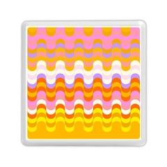 Dna Early Childhood Wave Chevron Rainbow Color Memory Card Reader (square)  by Alisyart
