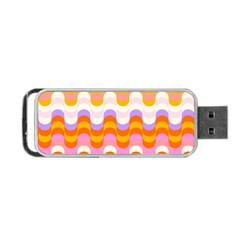 Dna Early Childhood Wave Chevron Rainbow Color Portable Usb Flash (one Side)