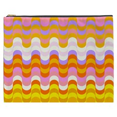 Dna Early Childhood Wave Chevron Rainbow Color Cosmetic Bag (xxxl)