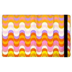 Dna Early Childhood Wave Chevron Rainbow Color Apple Ipad 2 Flip Case by Alisyart