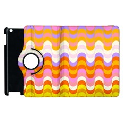 Dna Early Childhood Wave Chevron Rainbow Color Apple Ipad 3/4 Flip 360 Case by Alisyart