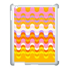 Dna Early Childhood Wave Chevron Rainbow Color Apple Ipad 3/4 Case (white)