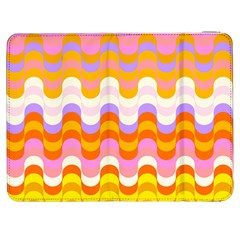 Dna Early Childhood Wave Chevron Rainbow Color Samsung Galaxy Tab 7  P1000 Flip Case