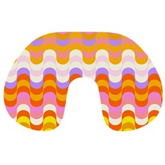 Dna Early Childhood Wave Chevron Rainbow Color Travel Neck Pillows by Alisyart