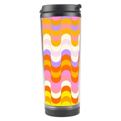 Dna Early Childhood Wave Chevron Rainbow Color Travel Tumbler by Alisyart