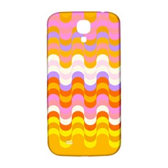 Dna Early Childhood Wave Chevron Rainbow Color Samsung Galaxy S4 I9500/i9505  Hardshell Back Case by Alisyart