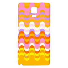 Dna Early Childhood Wave Chevron Rainbow Color Galaxy Note 4 Back Case by Alisyart