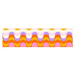 Dna Early Childhood Wave Chevron Rainbow Color Satin Scarf (oblong) by Alisyart
