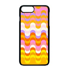 Dna Early Childhood Wave Chevron Rainbow Color Apple Iphone 7 Plus Seamless Case (black) by Alisyart