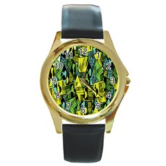 Don t Panic Digital Security Helpline Access Round Gold Metal Watch by Alisyart