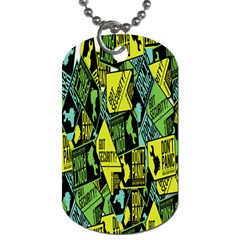 Don t Panic Digital Security Helpline Access Dog Tag (one Side) by Alisyart