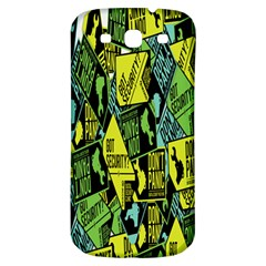 Don t Panic Digital Security Helpline Access Samsung Galaxy S3 S Iii Classic Hardshell Back Case by Alisyart