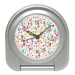 Floral Pattern Travel Alarm Clocks by Valentinaart