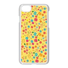 Floral Pattern Apple Iphone 7 Seamless Case (white) by Valentinaart