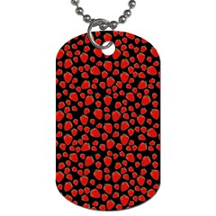 Strawberry  Pattern Dog Tag (one Side) by Valentinaart