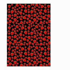 Strawberry  Pattern Small Garden Flag (two Sides) by Valentinaart