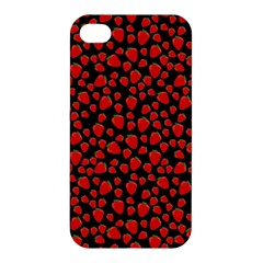 Strawberry  Pattern Apple Iphone 4/4s Premium Hardshell Case by Valentinaart