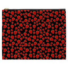 Strawberry  Pattern Cosmetic Bag (xxxl)  by Valentinaart