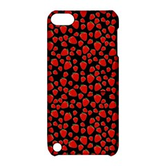Strawberry  Pattern Apple Ipod Touch 5 Hardshell Case With Stand