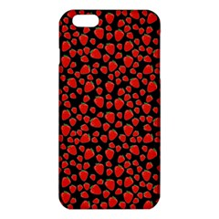 Strawberry  Pattern Iphone 6 Plus/6s Plus Tpu Case by Valentinaart