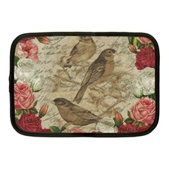 Vintage Birds Netbook Case (medium)