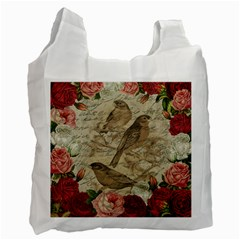 Vintage Birds Recycle Bag (two Side)  by Valentinaart