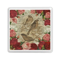 Vintage Birds Memory Card Reader (square)  by Valentinaart